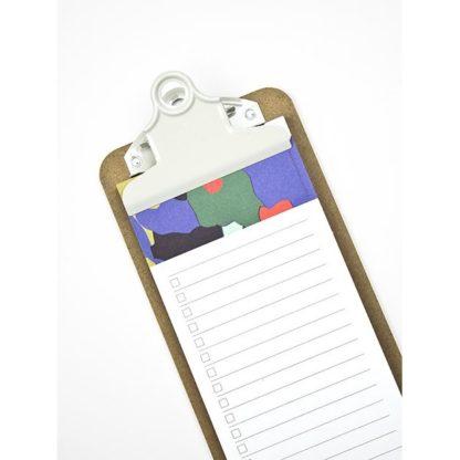 Le clipboard list et son bloc l'Ecorce