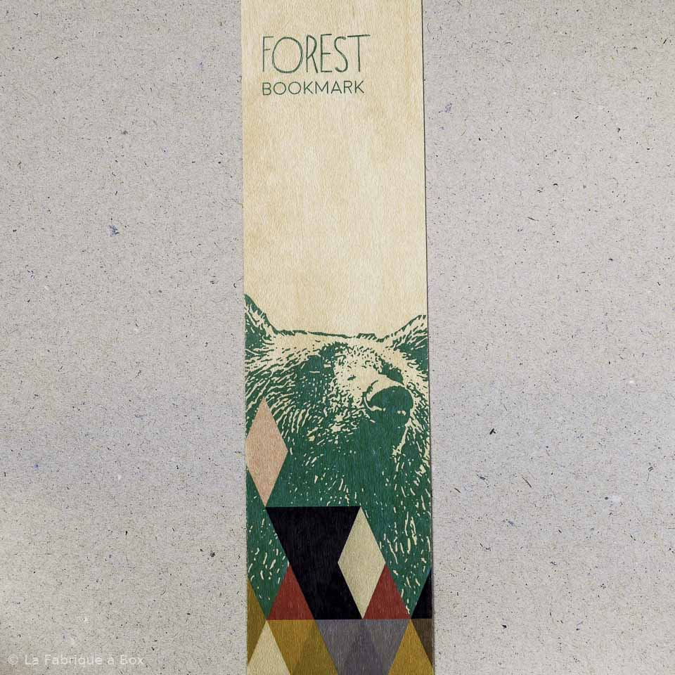 marque page forest