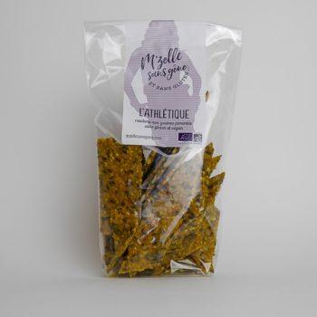 l'athlétique - crackers bio aux graines légèrement pimentés