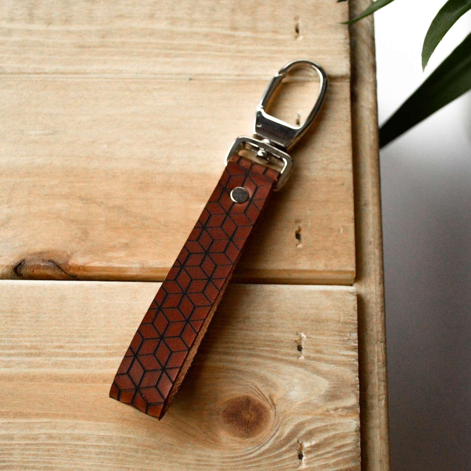 Le porte-clés LEON marron