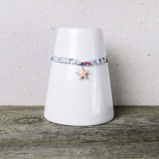 bracelet étoile saumonée