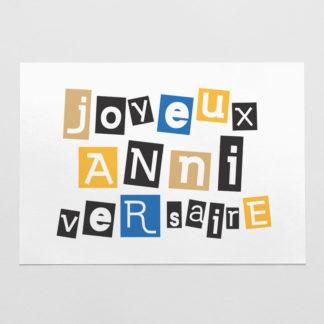 carte joyeux anniversaire en couleur