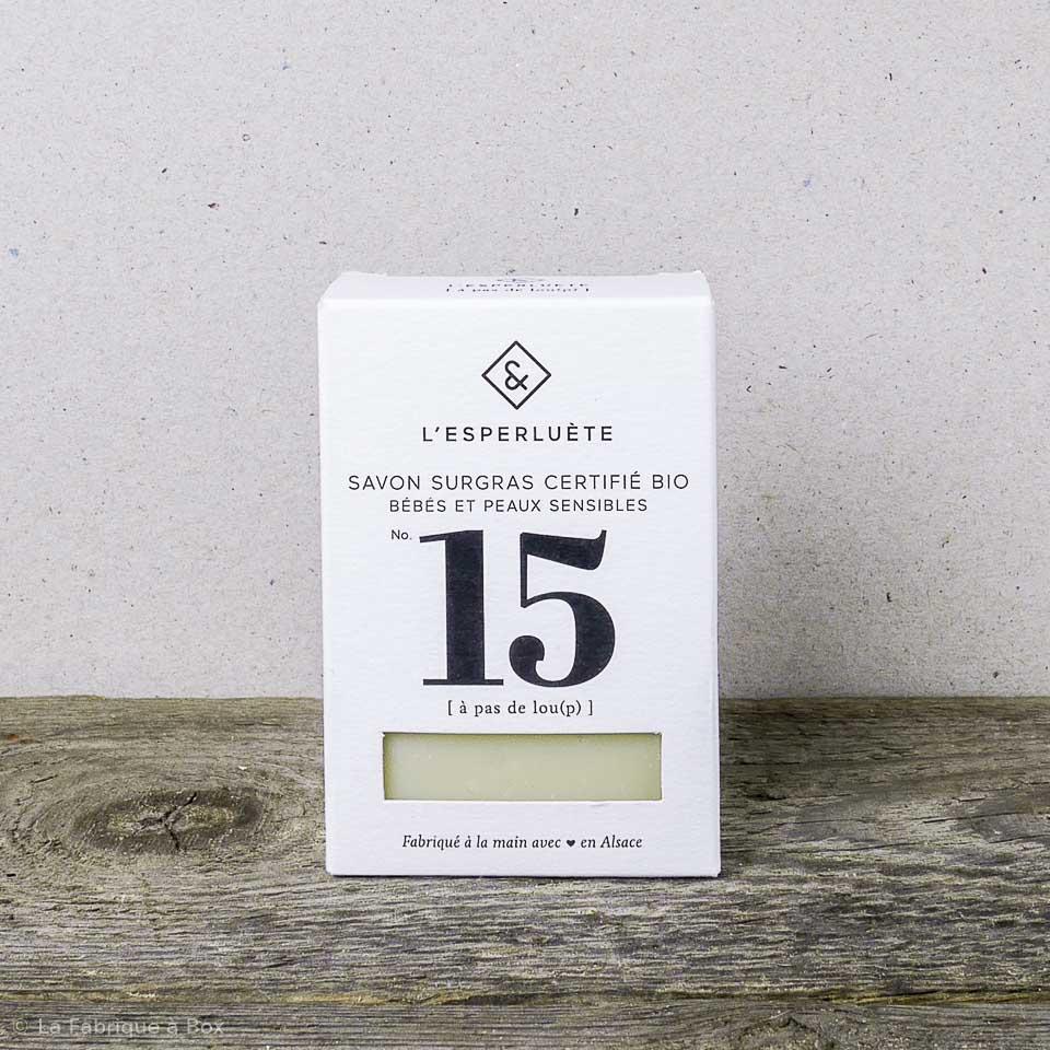 Le savon surgras bio n°15 A pas de Lou(p) – savon pour bébé