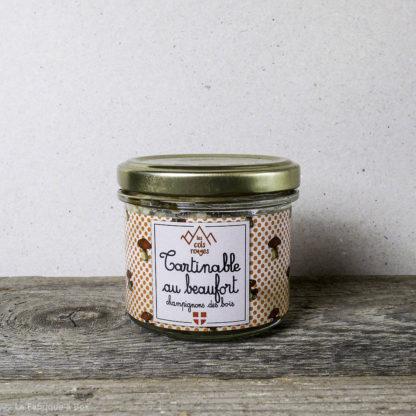 tartinable au beaufort et champignons des bois