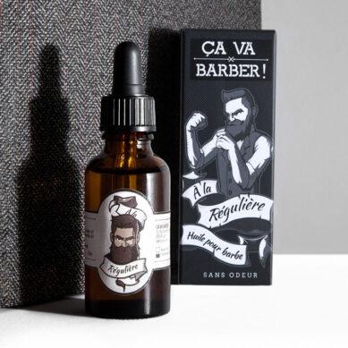 huile pour barbe à la régulière