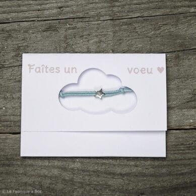 bracelet faites un voeu bleu