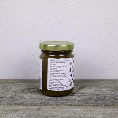 la confiture poire cannelle artisanale